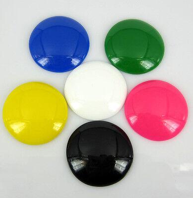 "30pcs 1-1/4"" Mix resin flatback cabochons Beads For Appliques/Craft/Scrapbooking"