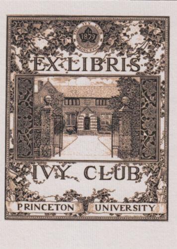 EX LIBRIS BOOKPLATE IVY CLUB PRINCETON UNIVERSITY