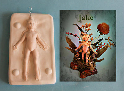 "4 1/2"" Fairy Pixie Boy, Jake press Mold  by Faith Tillbrook prfag"