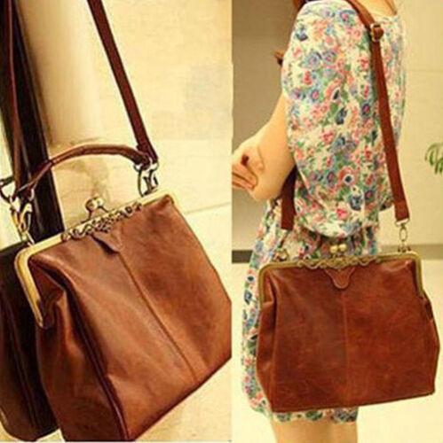New Satchel Womens Fashion PU Leather Handbag Ladies Tote Shoulder messenger Bag