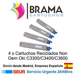 4-x-Toner-Reciclado-NON-OEM-OKI-para-Impresoras-C3300-C3400-C3450-C3600