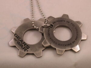 New-Gears-of-War-Metal-Cogs-DOG-TAGS-Necklace-GOW-3-Video-Game-Cog-tag