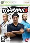 Top Spin 3 (Microsoft Xbox 360, 2008, DVD-Box)