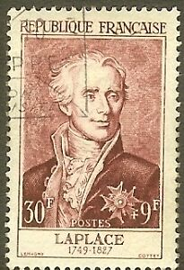 FRANCE-TIMBRE-STAMP-N-1031-034-MARQUIS-DE-LAPLACE-30F-9F-034-OBLITERE-TB