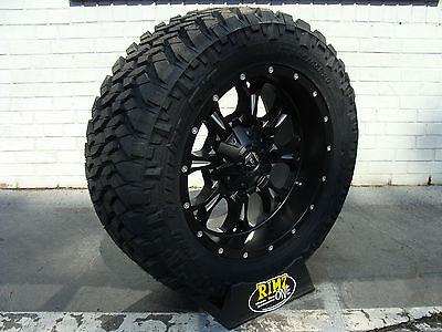 20x14 Fuel Off Road Maverick black wheels D538 Ford F250 Super Duty 8x170