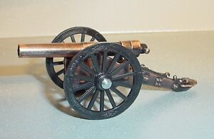 Civil War Cannon Miniatures (3) Diecast 1/24 Scale G Scale Diorama Accessory