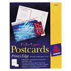 Avery Dennison 5889 Laser and Inkjet Compatible Postcards, 4 x 6, Two per Sheet, 80/Pack (AVE5889)