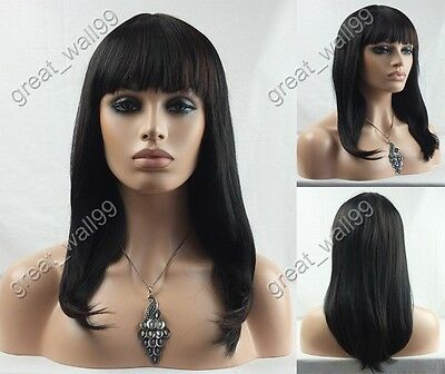 """16""""-28""""New !high quality  HAND TIED Synthetic Hair lace front  full wig #1B/33"""