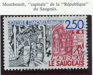 TIMBRE-FRANCE-OBLITERE-N-2495-MONTBENOIT