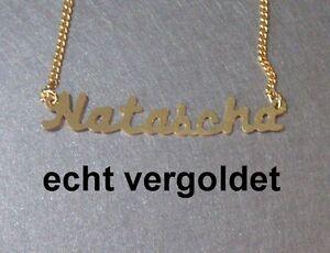 Nobles-Collier-Natascha-chaine-vrai-plaque-or-nom-avec-NEUF