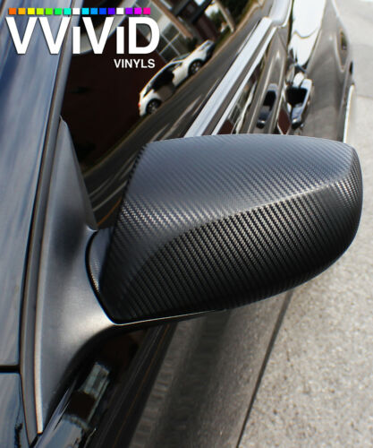Vvivid 5ft x 50ft Black Carbon Fiber vinyl car wrap film