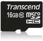 Transcend SanDisk microSDHC 16 GB, Class 10 (10MB/s) - MicroSDHC Card - (TS16GUSDC10)