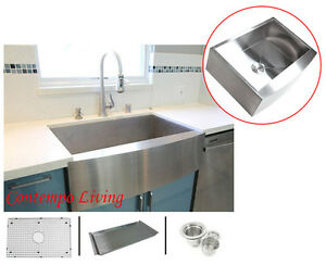 36-034-Stainless-Steel-Curve-Apron-Kitchen-Farm-Sink-Combo