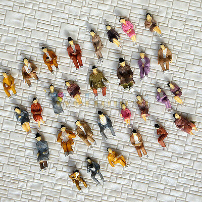 600 pcs HO scale ALL Seated People sitting figures passengers Well Painted #B30P