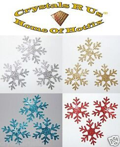 STICKER-GLITTER-50mm-SNOWFLAKE-self-adhesive-CARD-MAKING-SCRAPBOOK-EMBELLISHMENT