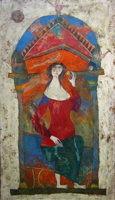 LUCIANO SPAZZALI Signed c. 1959 Original Oil Painting - LISTED