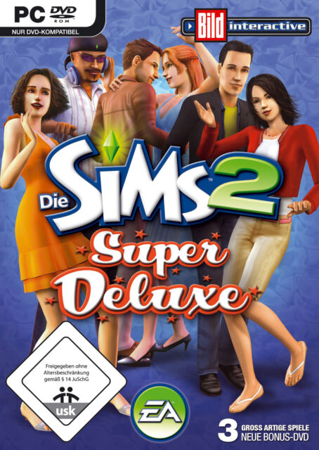 Die Sims 2 Super Deluxe (PC, 2008, DVD-Box)