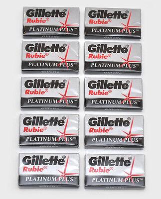 50 GILLETTE RUBIE PLUS DOUBLE EDGE CLASSIC SAFETY RAZOR  BLADES