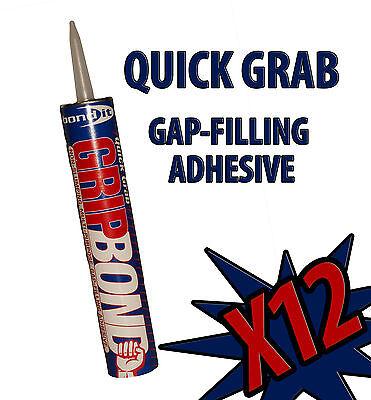12X GRIPBOND QUICK GRAB INSTANT GRIP GAP-FILLING ADHESIVE BOND IT