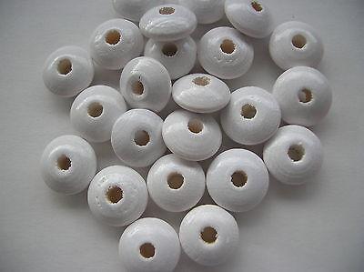 50 Holzlinsen, Linsenperlen, 10 mm, versch. Farben, auch Mischung, speichelfest