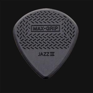 Dunlop-Max-Grip-Jazz-III-Guitar-Picks-Black-1-2-3-4-5-6-10-12-20-24-36