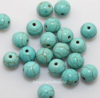 New 50pcs Round Loose Man-made Turquoise beads Jewelry making  8mm