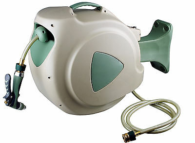 Hozemate Auto Retractable Garden Water Hose Reel - 30 Metre with Brass Fittings
