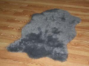 bear animal shape grey faux fur rug 4 39 3 x 6 39 3 washable non slip made in usa ebay. Black Bedroom Furniture Sets. Home Design Ideas