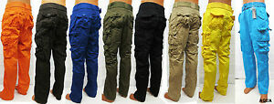 Men's PJ MARK cargo pants brown /black /olive /khaki /yellow ...