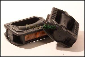 Black 9/16 Plastic Junior Mountain Road MTB Bike Bicycle Fixie Pedals Set 352102