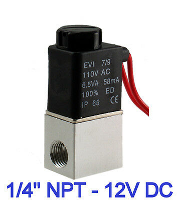 "18 Pieces 1/4"" 2 Way NC Pneumatic Aluminum Electric Solenoid Air Valve 12V DC"
