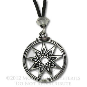Goddess-9-Pointed-Star-Pendant-Necklace-Wicca-Pagan