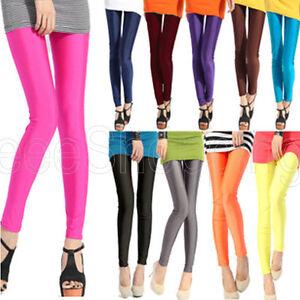 14-Candy-Color-Girls-Shiny-Neon-Women-Rock-Punk-Funky-Sexy-Leggings-Skinny-Pants
