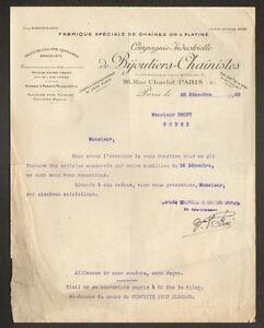 PARIS-III-FABRIQUE-de-CHAINES-en-OR-amp-PLATINE-034-Cie-de-BIJOUTIERS-CHAINISTES-034