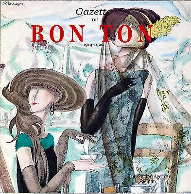 Gazette Du Bon Ton Fashion Design Magazines 1914-1922 Art Deco Lucien Vogel