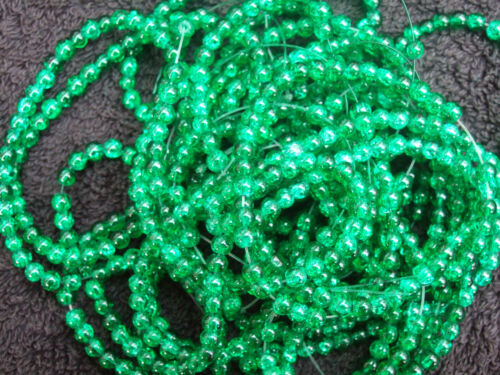 Crackle glass beads TWO sizes 4mm and 10mm  1C