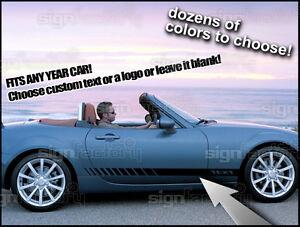 Mazda Miata MX Custom Rocker Racing Stripes Graphics Fits Other - Custom graphics for cars