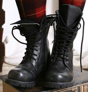10-Hole-Vegan-Faux-Leather-Punk-Rock-Mortorcycle-Biker-Engineer-Boots-Unisex