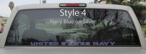 Tamaños y Colores Etiqueta del vinilo Pegatina de ventana Us Navy Usn Sello-var