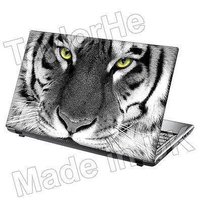 "15.6"" Taylorhe Laptop Skin Cover Vinyl Sticker Animal Decal Tiger Face 181"
