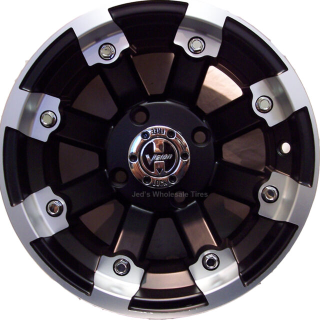 """4) 14"""" Rims Wheels for 2005-2013 Kawasaki Brute Force 750 IRS 393 MBML Aluminum"""