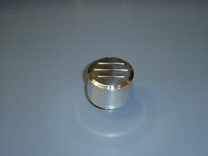 "ALUMINUM PUSH IN BREATHER 1"" NECK BALL MILLED"