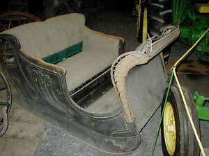 Antique-Horse-Drawn-Quebec-Green-Canadian-Sleigh-Lower-Price