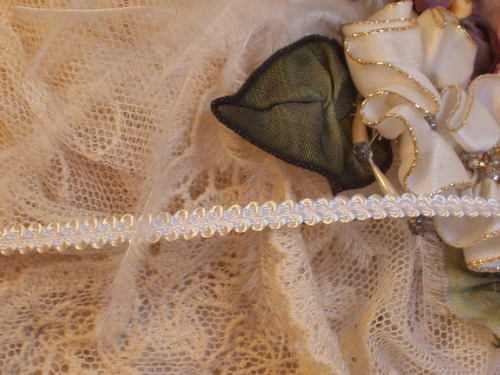 """3W~Very Small 3/16"""" White Doll Trim~Lamp S. 2yd/$1.20"""
