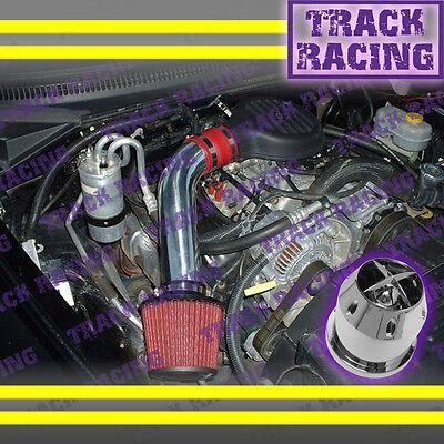 97-03 DODGE DAKOTA DURANGO 3.9L V6 5.2L 5.9L V8 COLD AIR INTAKE KIT+CHF Red 2F