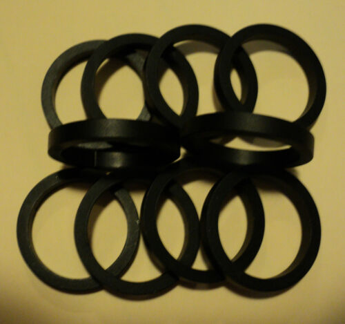 """NOS 10      Black   1 1//8/""""   Kalin  Aluminum   Spacers   New   Old   Stock"""
