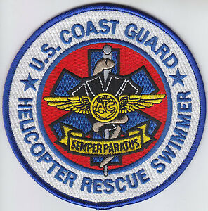 HELICOPTER RESCUE SWIMMER United States Coast Guard USCG US SEMPER ...