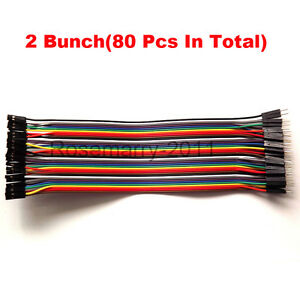 80PCS-Dupont-Wire-Color-Jumper-Cable-2-54mm-1P-1P-Male-to-Female-For-Arduino
