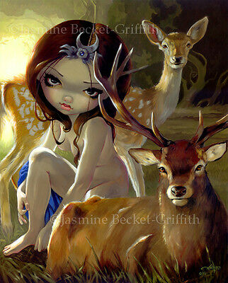 Jasmine Becket-Griffith art print SIGNED Diana in the Forest goddess artemis pop