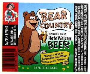 Southern-California-Brewing-BEAR-COUNTRY-HEFE-WEIZEN-BEER-beer-label-CA-12-oz